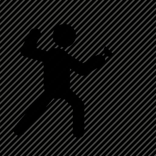 athlete, fencing, human, sport, training icon