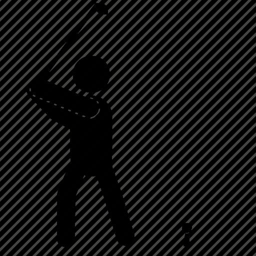athlete, game, golf, human, sport, training icon