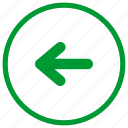 arrow, left, navigation icon