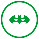 bat, batman, hero, mask icon