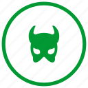 devil, evil, mask icon