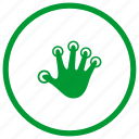 biometry, finger, hand icon