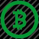 atm, b, bitcoin, circle, label, money, round icon
