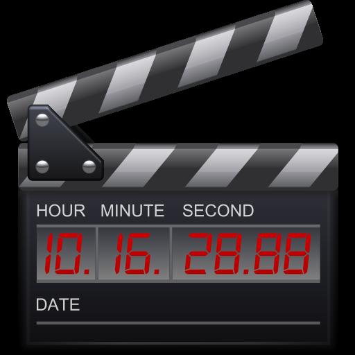 clip, film, movie, timestamp icon