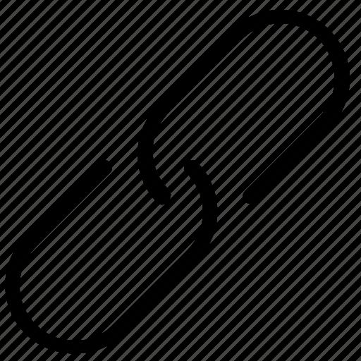 attachment, link, paper clip icon