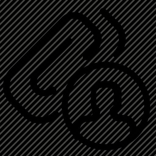 attachment, contact, profile, user icon