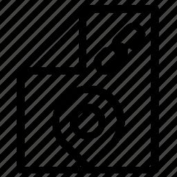 attachment, location icon