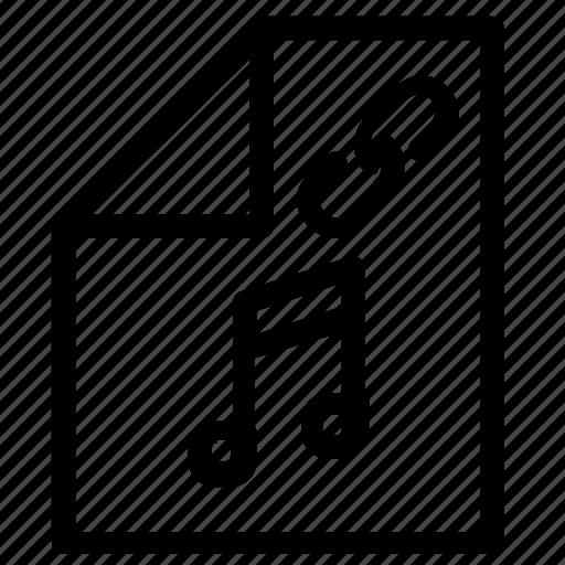 attachment, audio, music icon