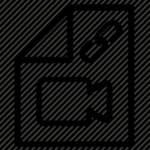 attachment, video icon