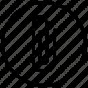 attach, clip, function, round, ui icon