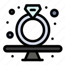 diamond, gavel, present, ring