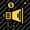 advertising, marketing, megaphone, trade