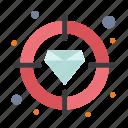 diamond, finance, focus, target