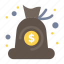 bag, cash, finance, money