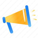 annoucement, megaphone, news, notifications icon