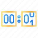 clock, countdown, number, time icon