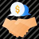 business, dealing, deals, handshake, meeting, partner, partnership icon