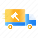 auction, delivery, product, send, truck icon