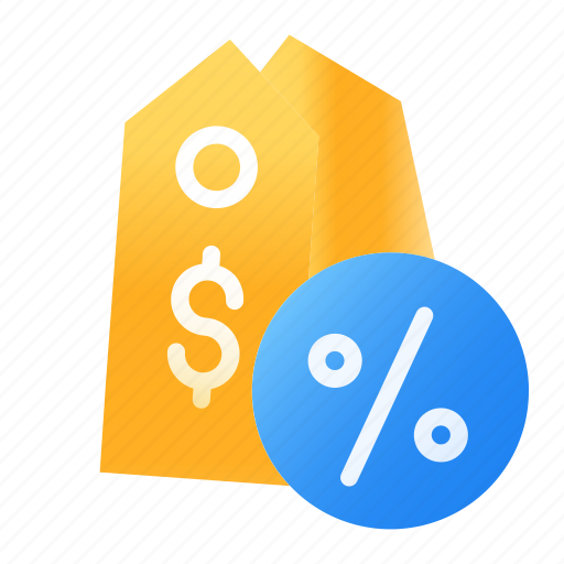 discount, e-commerce, label, percent, price, shopping, tag icon