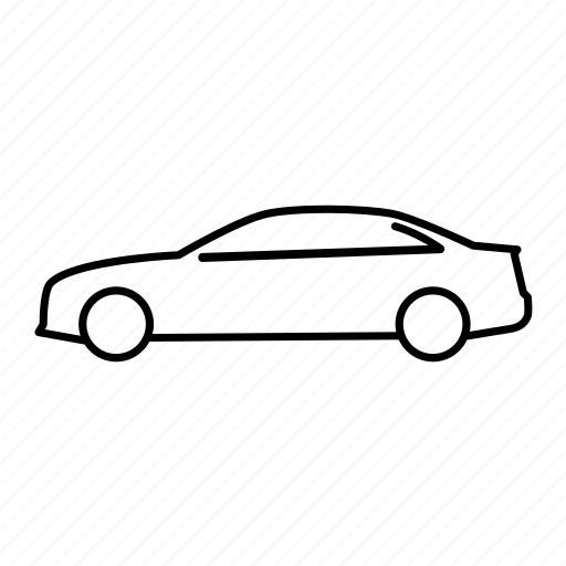 audi a4 sedan, automobile, car, road, transport, transportation, vehicle icon