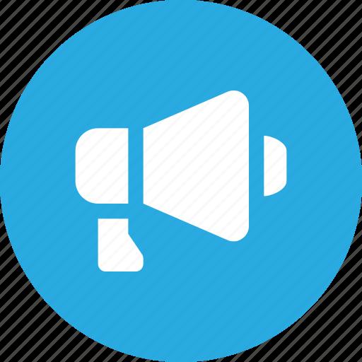 Advertising, bullhorn, horn, loud, loudspeaker, megaphone, speaker icon - Download on Iconfinder