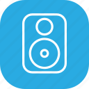 audio, bass, entertainment, music, speaker, stereo icon