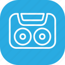 audio, cassette, music, record, sound, tape icon