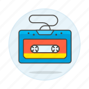 audio, cassette, magnetic, music, players, retro, tape, vintage icon