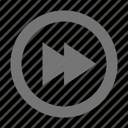audio, control, fast forward, skip icon