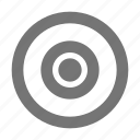 audio, bullseye, control, record icon