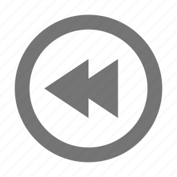 arrow, audio, control, media, play, rewind, song, sound icon