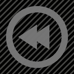 audio, control, rewind icon