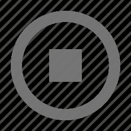 audio, control, stop icon