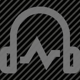 headphone, pulse icon