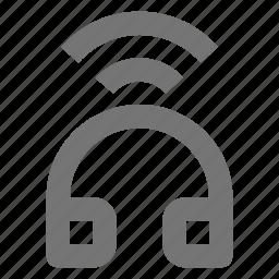 bluetooth, gadget, headphone, listen, music, remote, wireless icon