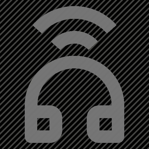 Headphone, wireless, bluetooth, gadget, listen, music, remote icon - Download on Iconfinder