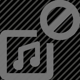 album, block, music, stop icon