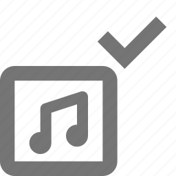 album, check, music, select icon