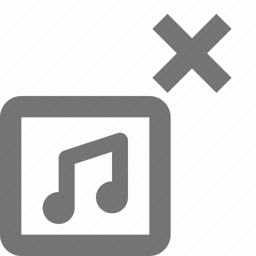 album, close, delete, music icon