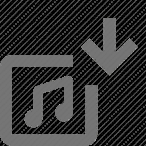 album, arrow, down, download, music icon