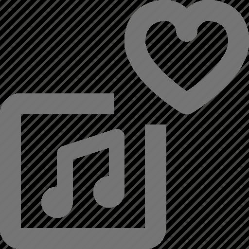 album, favorite, heart, like, music icon