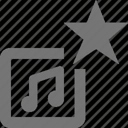 album, favorite, music, star icon