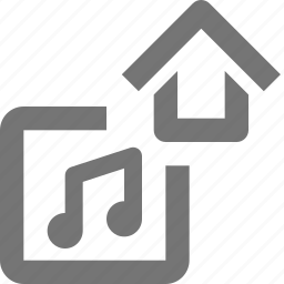 album, home, house, media, music, play, song, sound icon