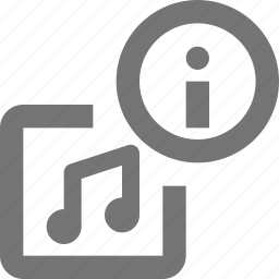 album, information, media, music, play, song, sound icon