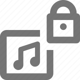 album, lock, music, security icon