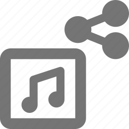 album, media, music, play, send, share, song, sound icon