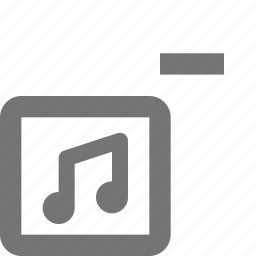 album, minimize, minus, music, remove icon