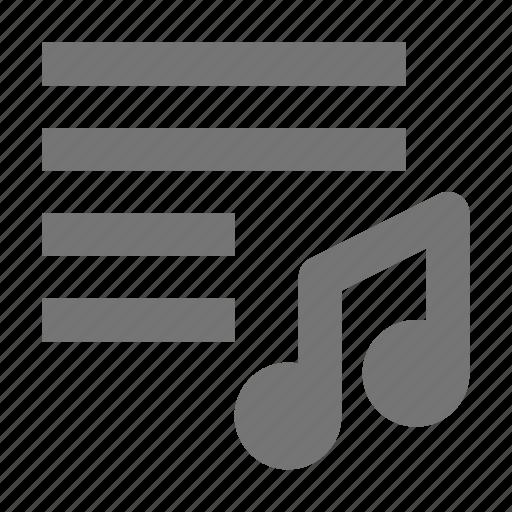 music, playlist icon