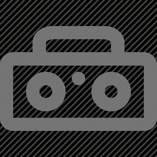 media, music, play, radio, retro, song, sound icon