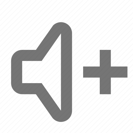 increase, play, plus, sound, speaker, up, volume icon